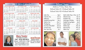 Magnetic Calendar School Schedules