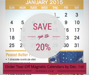 Tear-off magnetic Calendars