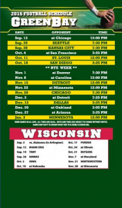 Full Magnet Football Schedules