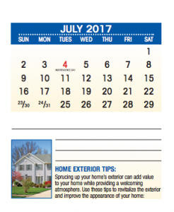 2017 Real estate marketing calendars