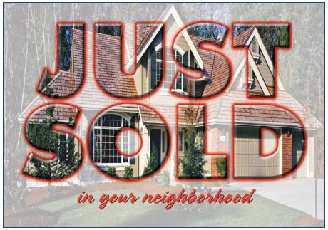 just sold postcard