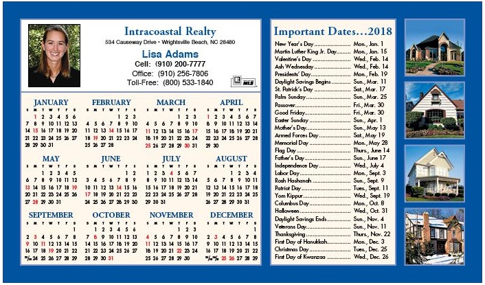 magnetic calendar real estate agents