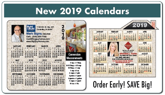 2019 real estate calendars