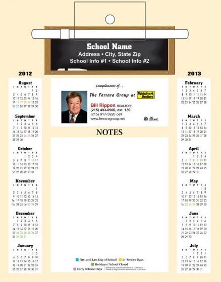 magnetic school memo board real estate marketing