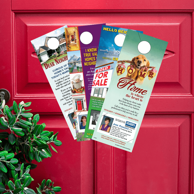 Door hangers for real estate